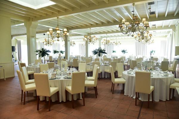 Quinta para casamentos Lisboa, Quinta do Casal Novo - Mafra. Vista do salão / copo de água.